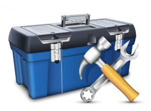 boîte à outils de bricolage
